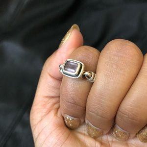 Silpada silver and amethyst ring sz 7